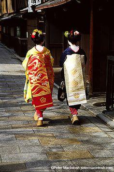 Maiko and their obi