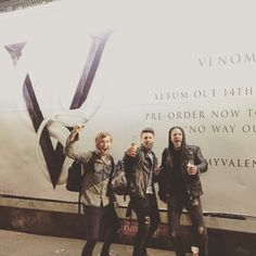 Cheers #camdenrocks!! The best guys: Jamie Mathias, Moose and Padge. Can't wait for new album Venom!! Bullet For My Valentine