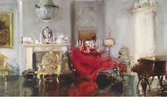 Cadell The Artist's Drawing Room (1912), Private Collection Very impressed by the Scottish Colourists