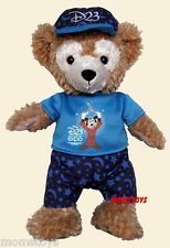 DISNEY D23 EXPO DUFFY TEDDY BEAR IN SORCERER D23 HAT AND T SHIRT
