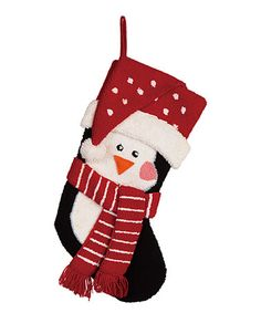 This Penguin Hooked Stocking is perfect! #zulilyfinds