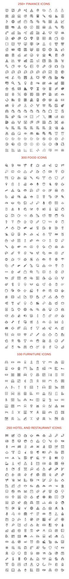 Muitos ícones pra usar no seu planner ou bullet journal