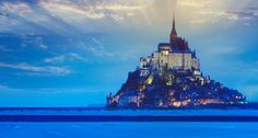 Bing Image Archive: Mont-Saint-Michel at dusk, Normandy, France -- Harald Sund/Getty Images(Bing United Kingdom)