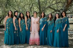 Love the bridesmaids varying dress styles. Indian Wedding Bridesmaids, Bridesmaid Dresses, Wedding Dresses, Dress Styles, Wedding Portraits, Photo Sessions, Fashion Dresses, Sari, Photoshoot