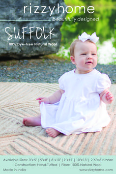 Check out our new collection of Suffolk rugs! They are 100% dye-free all natural wool and are hand-tufted in India.