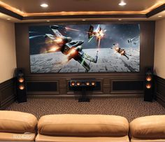 Make an appointment to tour our showroom and get started with your dream home theater today! Home Theater Screens, Home Theater Room Design, Home Cinema Room, Home Theater Setup, At Home Movie Theater, Home Theater Rooms, Home Theater Seating, Cinema Theater, Home Theater