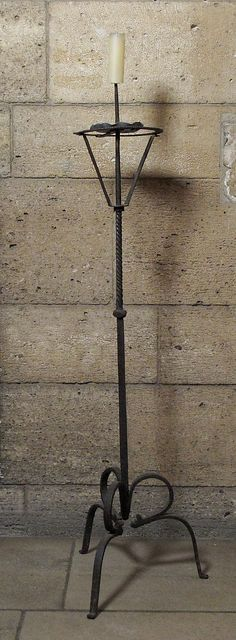 Pricket Candlestick Date: 15th century Culture: Italian (?) Medium: Iron Dimensions: Overall: 54 in. (137.2 cm)