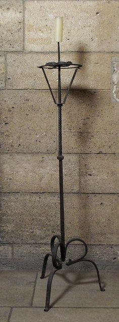 Pricket Candlestick    Date:      15th century  Culture:      Italian (?)  Medium:      Iron  Dimensions:      Overall: 54 in. (137.2 cm)