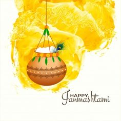 Happy Janmashtami, Krishna Janmashtami, Janmashtami Celebration, Rain Pictures, Hanging Pots, Indian Festivals, Vector Photo, Backgrounds Free, Displaying Collections