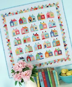 Bee In My Bonnet: Introducing the 2016 Cozy Cottage Calendar - Quilt Patterns Included! Bee In My Bonnet: Introducing the 2016 Cozy Cottage Calendar - Quilt Patterns Included! Colchas Quilt, Quilt Border, Doll Quilt, Quilt Blocks, House Quilt Patterns, House Quilt Block, Small Quilts, Mini Quilts, Quilting Projects