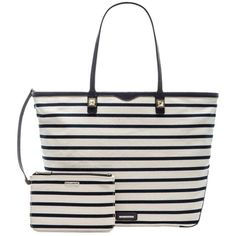 Pre-owned Rebecca Minkoff Everywhere Navy And White Tote Bag ($175) ❤ liked on Polyvore featuring bags, handbags, tote bags, navy and white, pre owned handbags, rebecca minkoff purse, studded handbags, rebecca minkoff and preowned handbags