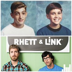 Rhett and link from good mythical morning as young kids! (Youtube channel GMM)