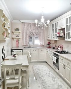 Achieve These Romantic Kitchen Looks for a Perfect Day - Valentine is around the corner. Newly-weds and retired couples are bound to look at these romantic kitchen ideas. Kitchen Cupboard Designs, Rustic Kitchen Design, Kitchen Room Design, Kitchen Cupboards, Home Decor Kitchen, Kitchen Interior, Kitchen Ideas, Kitchen Decorations, Cozinha Shabby Chic