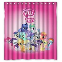My Little Pony Bathroom Shower Curtain | Disney Princess Ariel Little  Mermaid Bathroom Decor