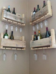 Petit panier vin Elm par DelHutsonDesigns sur Etsy