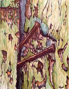 Rusted Nails Original Signed Watercolor and by justforfunbyjodi, $50.00