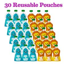 Squooshi Reusable Food Pouches | New Family Starter Kit | Squooshi