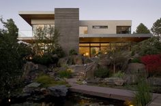 Kern Residence Design by Semple Brown Design, built at Castle Pines at Colorado State in the United States