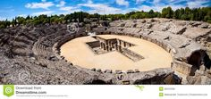 Roman Amphitheater Ruin Italica, Spain Stock Photo - Image: 30475330