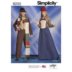Travel back in time and save the day with this Misses costume from Lori Ann. Patten also includes the perfect scarf accessory to complement your costume.