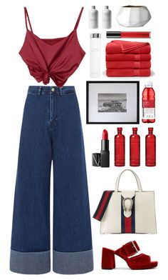 """""""Red"""" by chanelniall ❤ liked on Polyvore featuring Gucci, Sea, New York, Finery London, Cultural Intrigue, NARS Cosmetics, Geoffrey Agrons, Calvin Klein, Brooks Brothers, Bloomingville and MAC Cosmetics"""