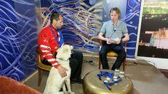 Michal Ivančo s Aresom v štúdiu TV NAŠA