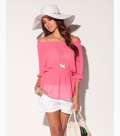 blusa túnica rosa pastel