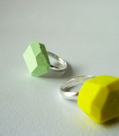 beon Yellow geo Ring