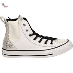 Converse - Converse All Star Hi White Chaussures de Sport Femme - Blanc, 36 - Chaussures converse (*Partner-Link)