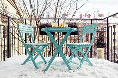 balkon gestalten im winter winterterrasse bilder
