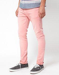 ASOS Super Skinny Jeans In Pink