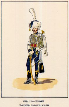 French; 11th Hussars, Elite Company, Trumpeter, 1812