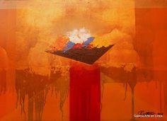 En busca del significado de la vida José Contreras Categoría: Pintura.Técnica: Aóleo y hoja de oro sobre MDF. Medidas: 49.5 x 69.5 cms.Fecha: 2016.Enmarcada: No. Firmada: Si.  $ 10, 500.00 MXN  #art #arte #pintura #painting #escultura #sculpture #dibujo #drawing #watercolor #artedemexico #arteenmexico #mexicancart  #color #emotion #colour #design #form #gael #galeriartenlinea #pasionporelarte
