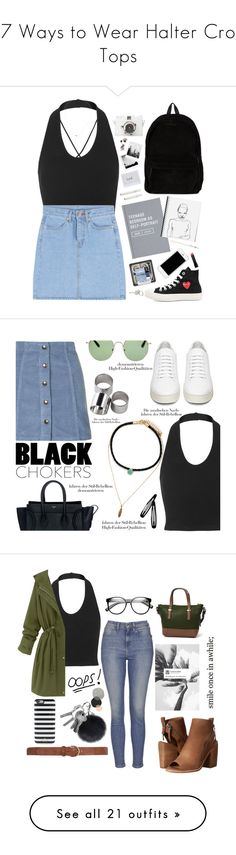 """""""17 Ways to Wear Halter Crop Tops"""" by polyvore-editorial ❤ liked on Polyvore featuring haltercroptop, waystowear, Kiki de Montparnasse, Topshop, Play Comme des Garçons, Ann Demeulemeester, Made Her Think, Anine Bing, J.Crew and Bobbi Brown Cosmetics"""
