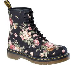 Dr. Martens 1460 8-Eye Boot - Black Victorian Flowers with FREE Shipping & Exchanges.  The iconic 1460 8-Eyelet Boot, recognized worldwide for their uncompromising looks, durability and