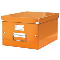 Leitz CLICK & STORE Archiv Box mittel DIN A4 orange LE2397 60440044