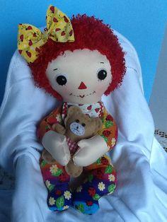Baby Raggedy Ann Rag Doll PDF Cloth Doll Pattern  by PeekabooPorch, $9.00
