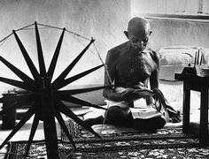 by Margaret Bourke-White: Mohandas Gandhi