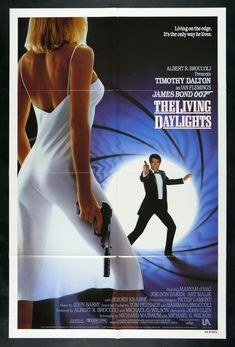 "Alternate US poster of Ian Fleming's The Living Daylights starring Timothy Dalton as James Bond ""007"". #Bond50"