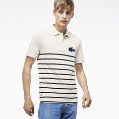 Engineered stripes, a novelty croc logo and a slim fit make this polo a modern addition to his closet. Le Polo, Slim, Fashion Branding, Neue Trends, Fashion Addict, Crocs, Mens Fashion, Fashion Trends, Menswear