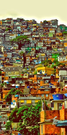 Favela in Rio Places Around The World, Travel Around The World, Around The Worlds, Favelas Brazil, Travel Pictures, Travel Photos, Brazil Travel, Slums, Cities