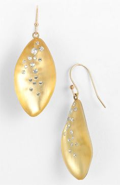 Alexis Bittar 'Lucite® - Dust' Long Leaf Statement Earrings available at #Nordstrom  --in gray