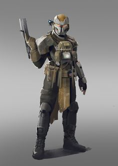 Character design for my personal Project He is a veteran trying to survive in an exo planet infested by ghosts from an old alien civilization Character Concept, Character Art, Character Design, Star Wars Bounty Hunter, Anime Military, Star Wars Concept Art, Sci Fi Armor, Future Soldier, Star Wars Rpg