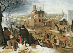 Pieter Brueghel the Younger (Brussels c.1564-1637 Antwerp) A winter landscape with peasants skating and playing kolf on a frozen river, a town beyond Price realised USD 1,219,500 Estimate USD 1,000,000 - USD 1,500,000