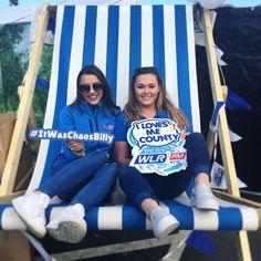 Join us in our Big Blue Deck Chair  #DayTripper #finalday #WLRFM #giantdeckchair
