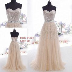 New Sweetheart Party Prom Homecoming Pageant Dress Beaded Lace Bridesmaid Dress