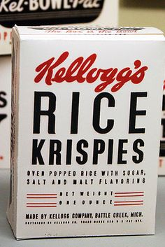 Love this vintage Rice Krispies packaging Cereal Packaging, Retro Packaging, Packaging Box, Brand Packaging, Packaging Design, Branding Design, Simple Packaging, Web Design, The Design Files