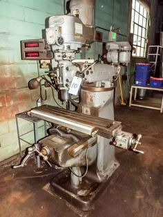 """BRIDGEPORT J-HEAD MILLING MACHINE, S/N 144319, 1-1/2 HP, VARIABLE SPEED, 9"""" X 42"""" TABLE, QUALITY MEASUREMENT SYSTEMS DRO MODEL No. 400, BRIDGEPORT SHAPING ATTACHMENT, S/N E3175, 220 VOLT, 3 PHASE  Online Auction of Stamping & Fabricating Facility With Product Line and Website - Bidding Open Now Through April 16th Bidding Starts to Close at 1:00 PM/Eastern on the final day of bidding  http://www.acceleratedbuysell.net/cgi-bin/mnlist.cgi?perillo63%2Fcategory%2FALL"""