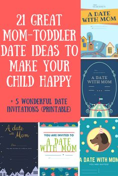 21 great mom-toddler date ideas to make your child happy {+ printable invitations} - Awesome ideas for mom-toddler dates - Mom Daughter Dates, Mommy And Son, Mom Son, Kid Dates, Quotes About Motherhood, Parenting Toddlers, Parenting Tips, Toddler Activities, Family Activities