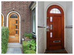 Jaren30woningen.nl | binnen- en buitenkant van een #voordeur van een #jaren30 woning